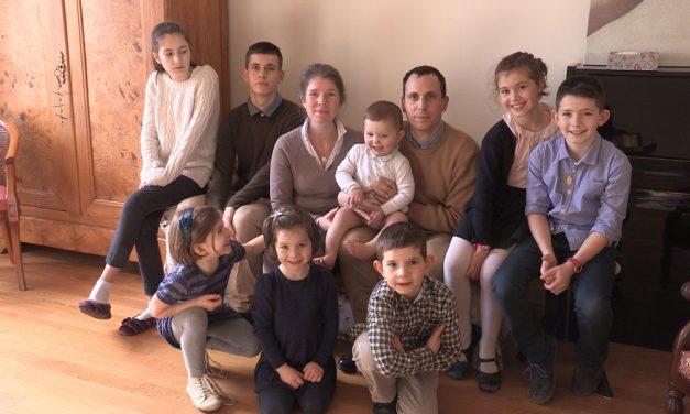 La joie d'une famille nombreuse !