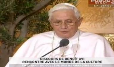 Benoît XVI : Ce que la civilisation doit à l'Eglise.