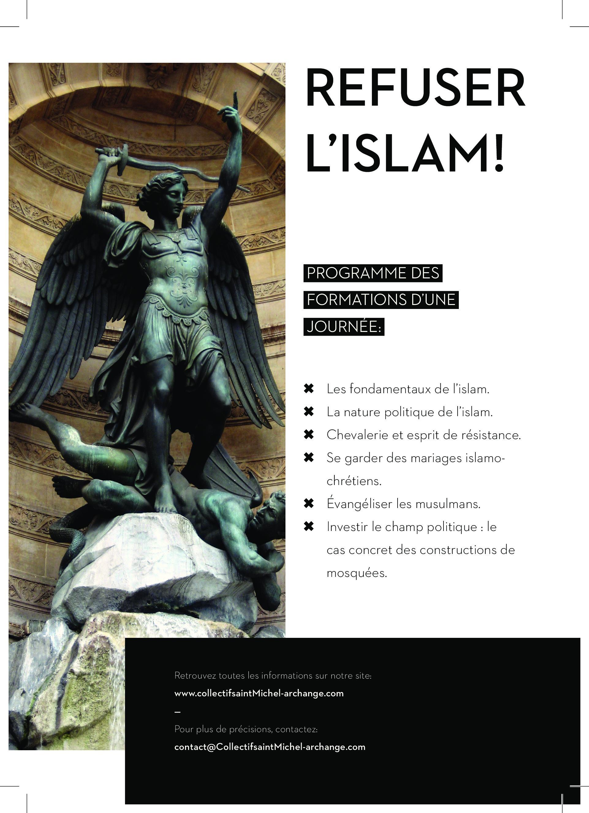 Formations proposées sur le thème : Refuser l'islam !