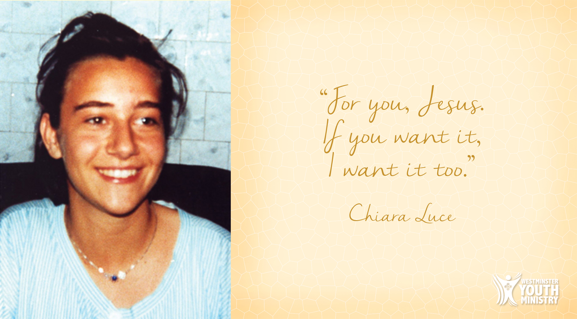"Bienheureuse et merveilleuse Chiara ""Luce"" Badano…"