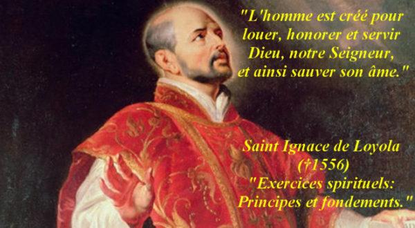 Les Exercices spirituels de saint Ignace de Loyola
