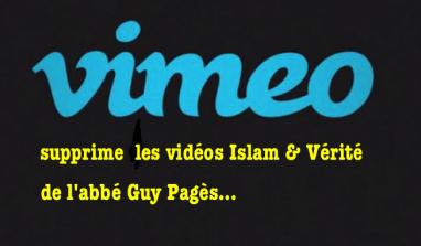 Abbé Pagès : ses vidéos supprimées sur Viméo…