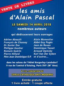 Dédicace des amis d'Alain Pascal le 14 avril