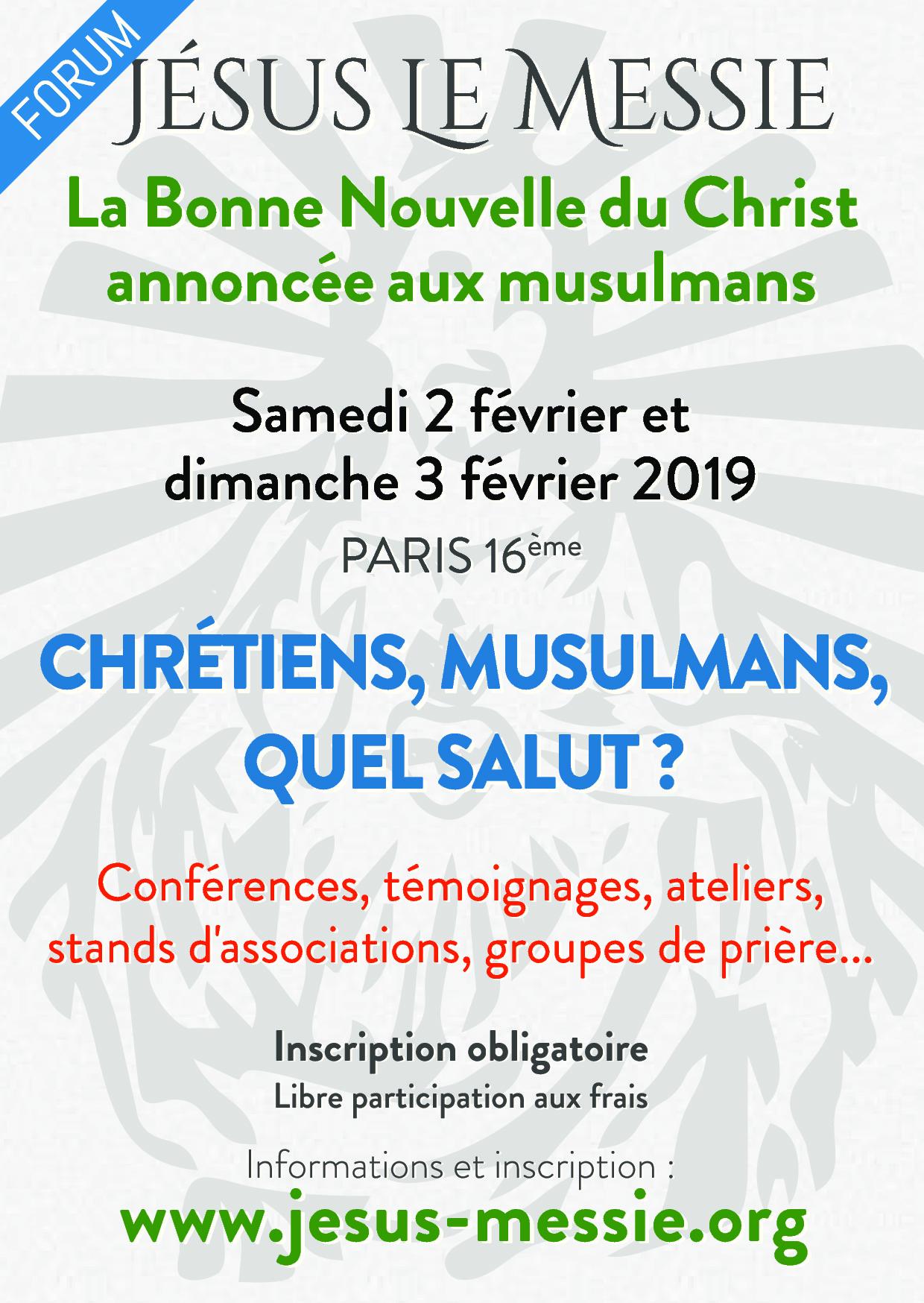 """Forum Jésus le Messie """"La Bonne Nouvelle du Christ annoncée aux musulmans"""""""
