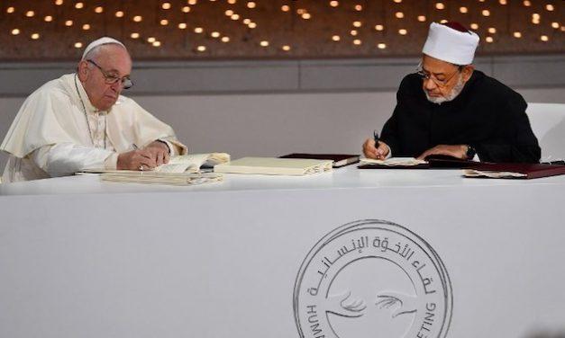 L'amitié de François et d'Al-Tayyeb, ou l'«espérance en un avenir lumineux pour tous les êtres humains»