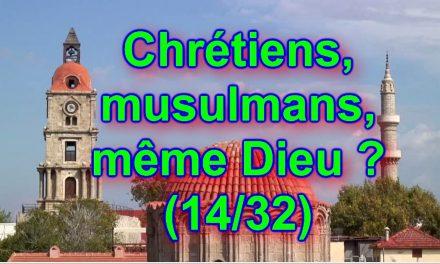 Parce qu'Allah est impensable, alors… Chrétiens, musulmans, même Dieu ? (14/32)
