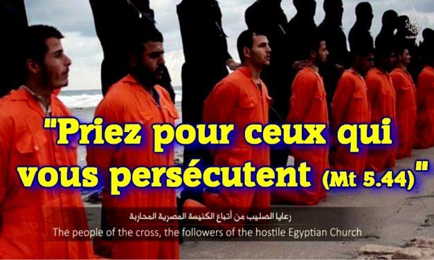 Priez pour ceux qui vous persécutent (Mt 5.44)…