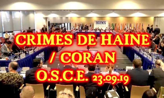 Crimes de haine / Coran, OSCE, 25.09.19