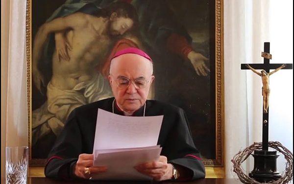 """Message de Mgr Vigano aux manifestants contre le """"passe sanitaire"""""""