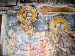 communion à la cuiller fresque