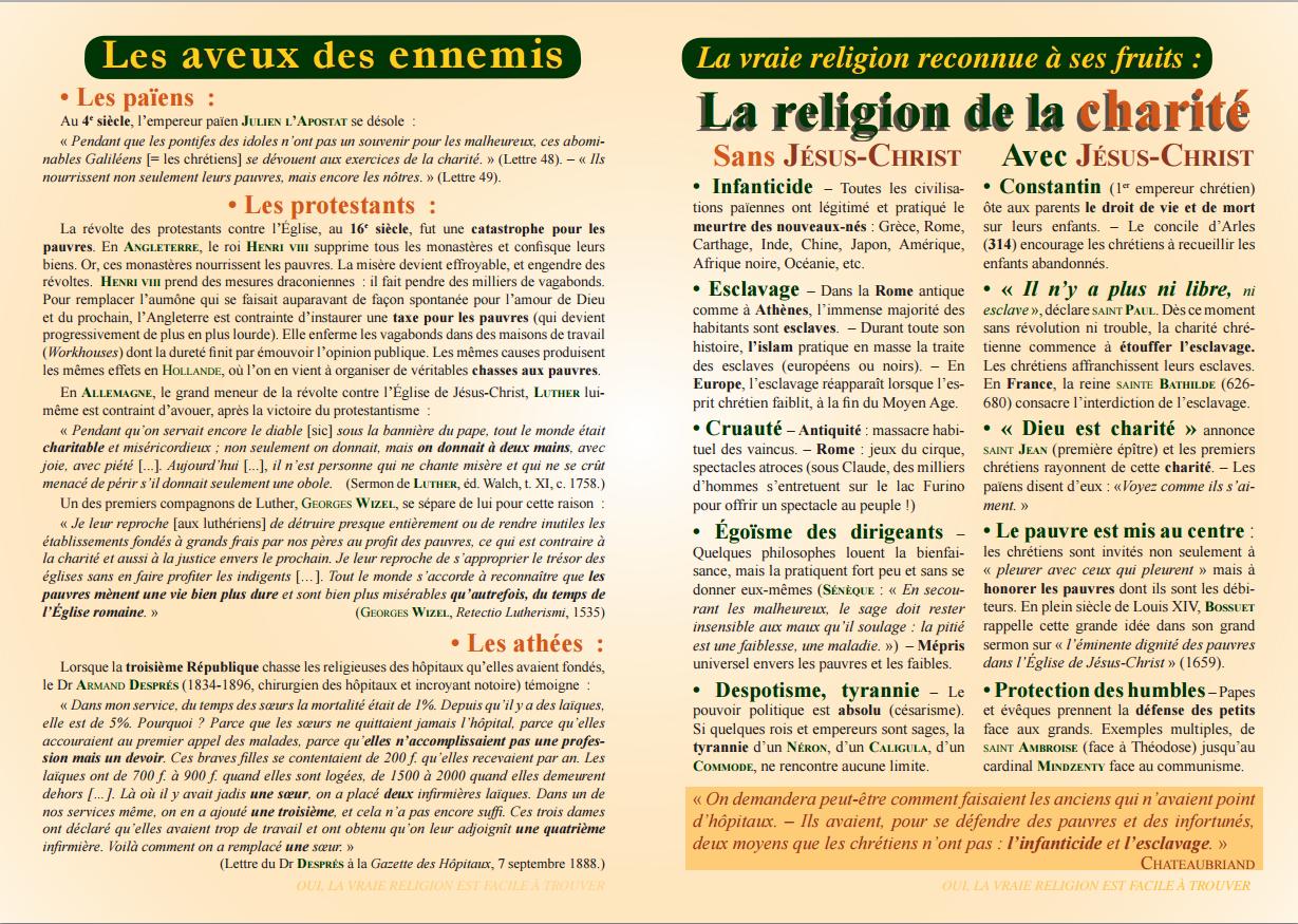 Tract, La religion de la charité 1