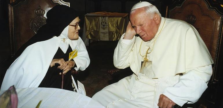 Jean-Paul-II-et-soeur-Lucie