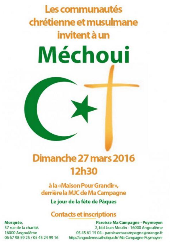 Méchoui Pâques islamo-chrétiennes Angoulème