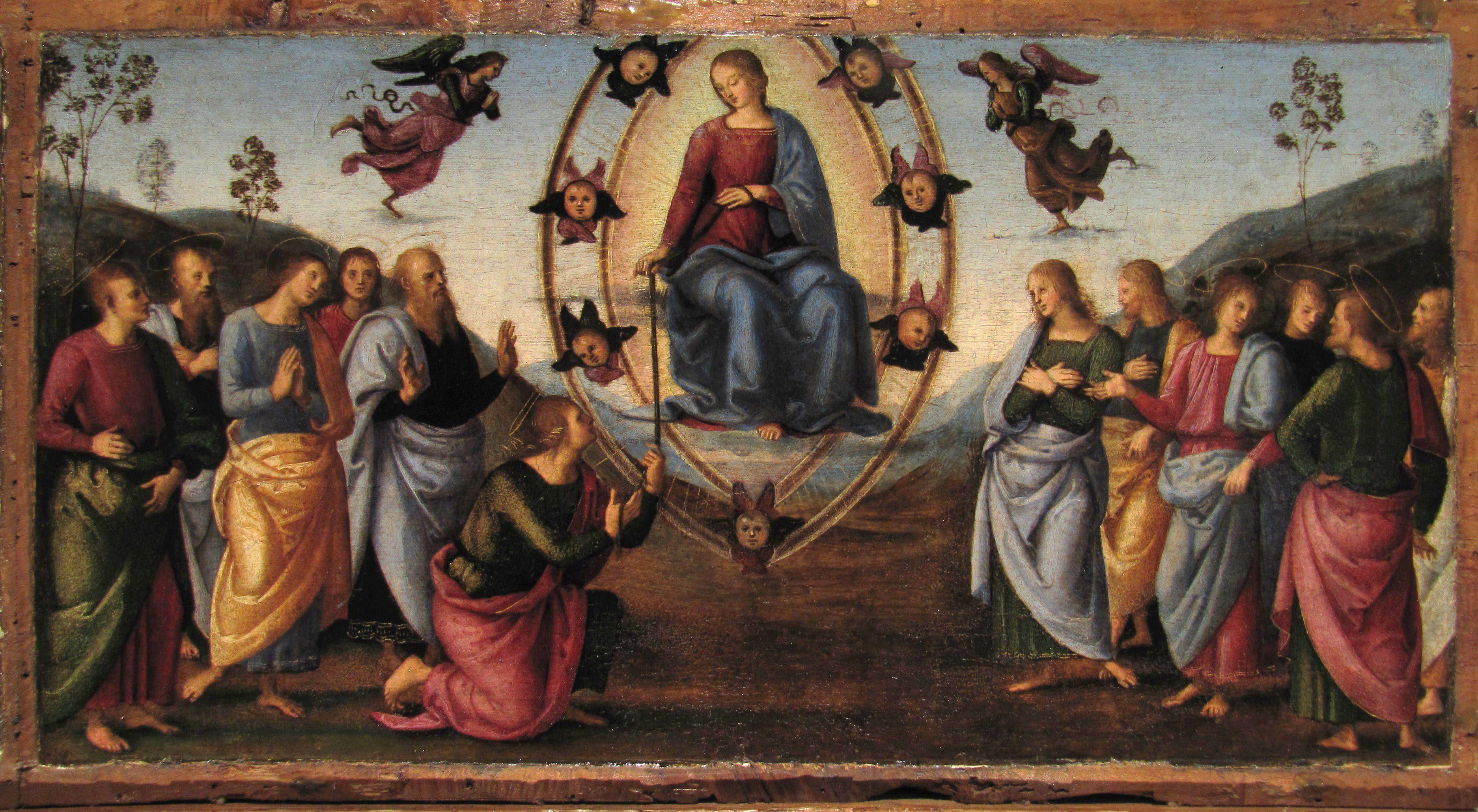 Raphael-retable-de-Fano-predelle-representant-des-episodes-de-la-Vie-de-la-Vierge-l-Assomption-1497