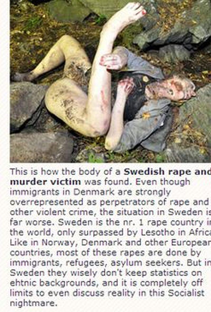 une suédoise violée