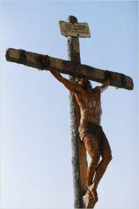 Jésus en croix Mel Gibson